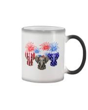 4th July US Flag Elephants Color Changing Mug thumbnail