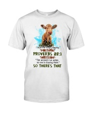 I Wanted To Go Jogging But Proverbs 28:1 Cow Classic T-Shirt thumbnail
