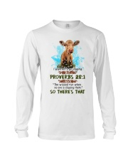 I Wanted To Go Jogging But Proverbs 28:1 Cow Long Sleeve Tee thumbnail