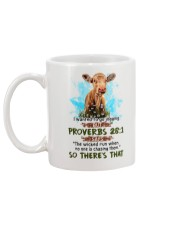 I Wanted To Go Jogging But Proverbs 28:1 Cow Mug back