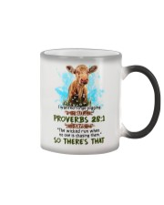 I Wanted To Go Jogging But Proverbs 28:1 Cow Color Changing Mug thumbnail