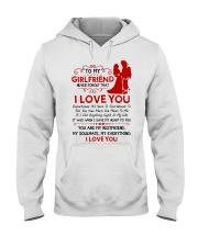Firefighter Girlfriend I Gave My Heart To You Hooded Sweatshirt thumbnail