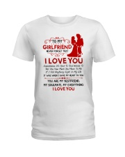 Firefighter Girlfriend I Gave My Heart To You Ladies T-Shirt thumbnail