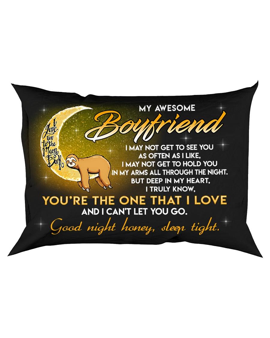 Sloth Boyfriend Good Night Baby Sleep Tight Rectangular Pillowcase
