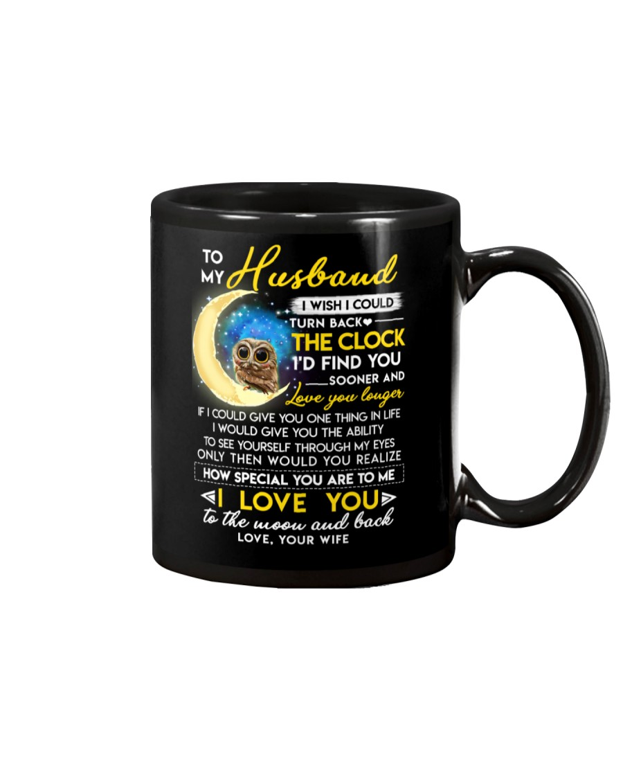 Owl Husband Clock Ability Moon Mug