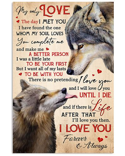 WOLF MY LOVE ALL OF MY LASTS BE WITH YOU POSTER
