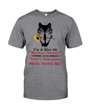 I'm A Mix Of Really Sweet Wolf  Classic T-Shirt front
