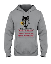 I'm A Mix Of Really Sweet Wolf  Hooded Sweatshirt thumbnail