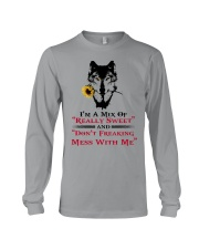 I'm A Mix Of Really Sweet Wolf  Long Sleeve Tee thumbnail
