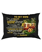 You Are Braver Than You Believe Farmer Rectangular Pillowcase back