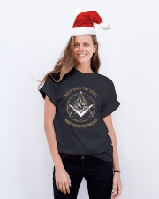 FREEMASON PART UPON THE SQUARE GG Classic T-Shirt lifestyle-holiday-crewneck-front-1
