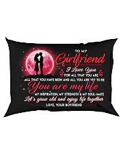 Family Girlfriend You Are My Life Rectangular Pillowcase back