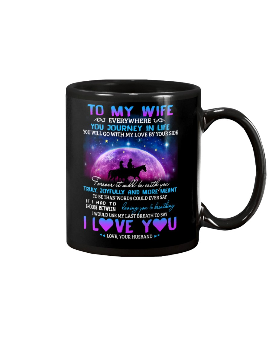 You Will Go With My Love By Your Side Horse  Mug