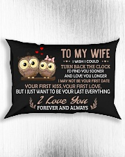 I Wish I Could Turn Back The Clock Owl  Rectangular Pillowcase aos-pillow-rectangle-front-lifestyle-4