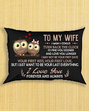 I Wish I Could Turn Back The Clock Owl  Rectangular Pillowcase aos-pillow-rectangle-front-lifestyle-6