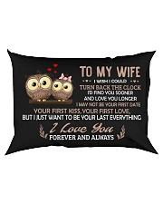 I Wish I Could Turn Back The Clock Owl  Rectangular Pillowcase back