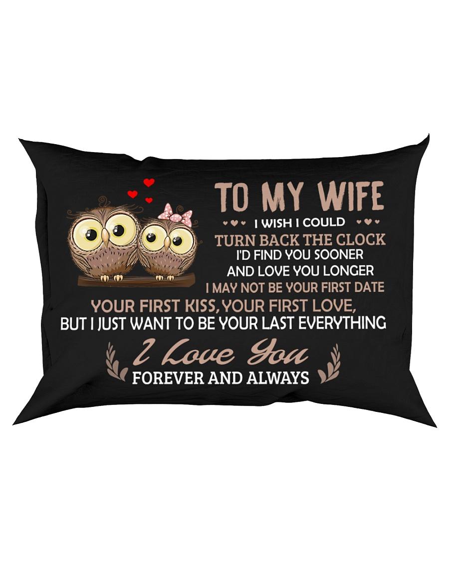 I Wish I Could Turn Back The Clock Owl  Rectangular Pillowcase