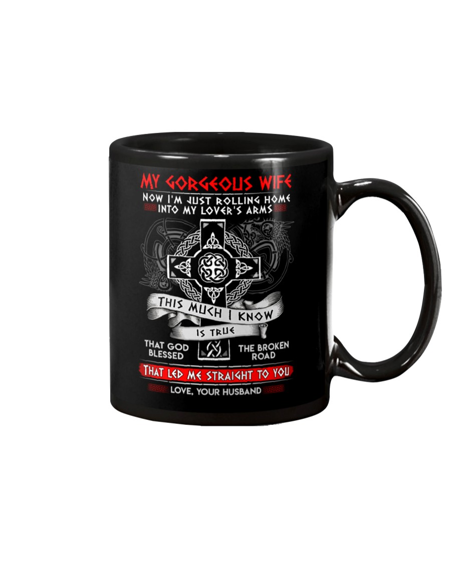 Viking Blessed The Broken Road Wife Mug