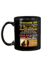 The Bond Between Son Mom  Mug back