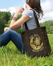 Stay Wild Moon Child Wolf Tote Bag lifestyle-totebag-front-6