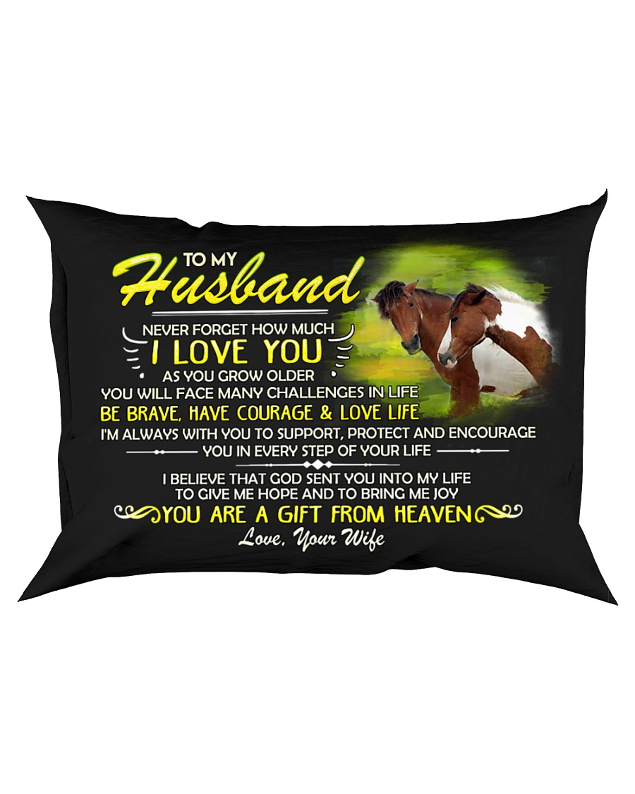Horse Husband I'm Always With You Rectangular Pillowcase