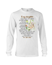 Sometimes It's Hard To Find Word To Tell You Sloth Long Sleeve Tee thumbnail