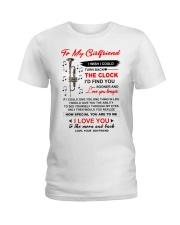 Instruments Trumpet Girlfriend Clock Ability Moon Ladies T-Shirt thumbnail