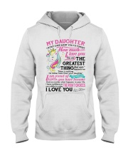 Unicorn Mom Daughter Don't Forget I Love You Hooded Sweatshirt thumbnail