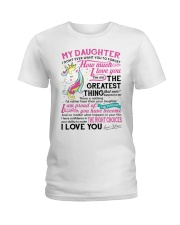 Unicorn Mom Daughter Don't Forget I Love You Ladies T-Shirt thumbnail