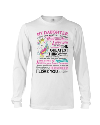 Unicorn Mom Daughter Don't Forget I Love You