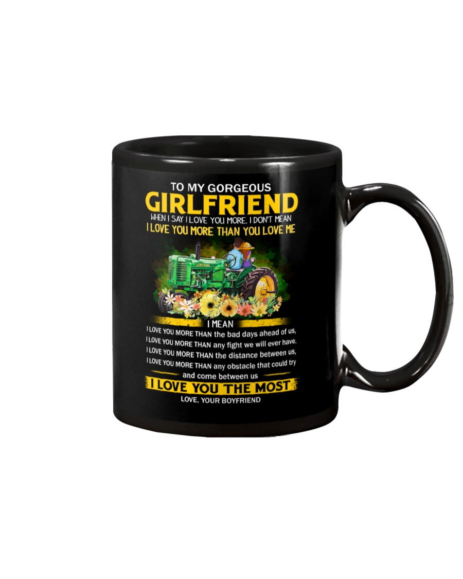 Farmer Girlfriend I Love You More Mug