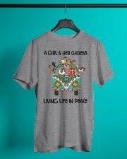 A Girl - Her Chickens Living Life In Peace Chicken Classic T-Shirt lifestyle-mens-crewneck-front-3