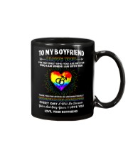 LGBT Love Makes Me Stronger Boyfriend Mug front