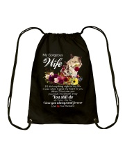 Wolf Wife I Love You Always And Forever Drawstring Bag thumbnail