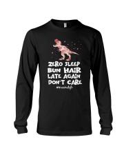 Zero Sleep Bun Hair Late Again Dinosaur Long Sleeve Tee thumbnail
