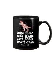 Zero Sleep Bun Hair Late Again Dinosaur Mug thumbnail