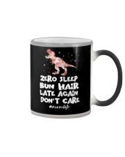 Zero Sleep Bun Hair Late Again Dinosaur Color Changing Mug thumbnail