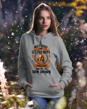 Son Up 'Til Son Down Mothers Of Little Boys Horse Hooded Sweatshirt lifestyle-holiday-hoodie-front-5