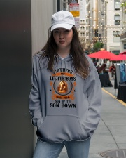 Son Up 'Til Son Down Mothers Of Little Boys Horse Hooded Sweatshirt lifestyle-unisex-hoodie-front-5