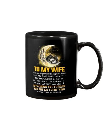 Wolf Wife Shoulder To Lean On Mug CC