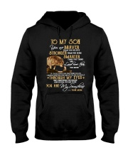 You Are Braver Than You Believe Wolf Hooded Sweatshirt front