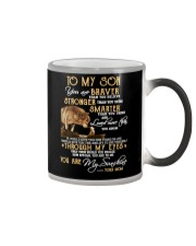 You Are Braver Than You Believe Wolf Color Changing Mug thumbnail