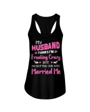 Wife Crazy Married Me Ladies Flowy Tank thumbnail