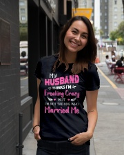 Wife Crazy Married Me Ladies T-Shirt lifestyle-women-crewneck-front-5