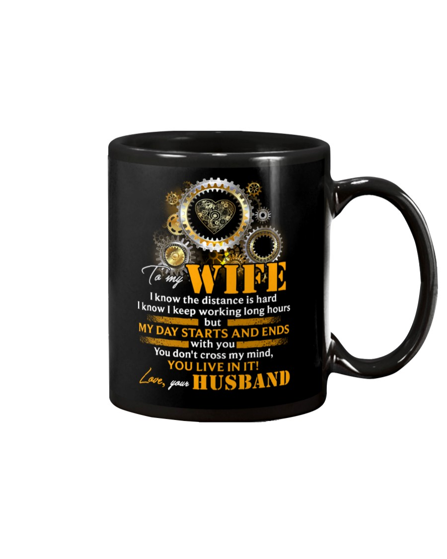 To My Wife I Know The Distance Is Hard Mechanic Mug