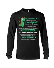 Your Opinion Of Me Means Nothing Dinosaur  Long Sleeve Tee thumbnail