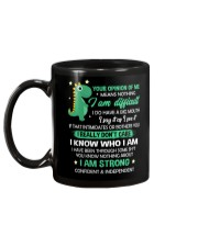 Your Opinion Of Me Means Nothing Dinosaur  Mug back