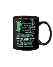 Your Opinion Of Me Means Nothing Dinosaur  Mug front