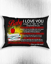 Baby I Love You Enough To Fight For You Teacher Rectangular Pillowcase aos-pillow-rectangle-front-lifestyle-4