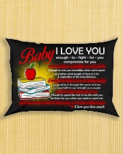 Baby I Love You Enough To Fight For You Teacher Rectangular Pillowcase aos-pillow-rectangle-front-lifestyle-6